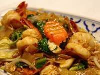 Stir-fried Thick Soi Sause Noodle